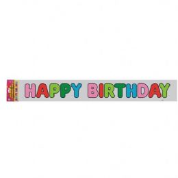48 Units of Happy Birthday Banner 12 Ft.(3.65m) - Party Banners