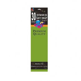 72 Units of 30CT GREEN TISSUE PAPER - Gift Wrap