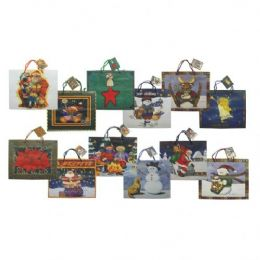 144 Units of Christmas Gift Bags - Christmas Gift Bags and Boxes