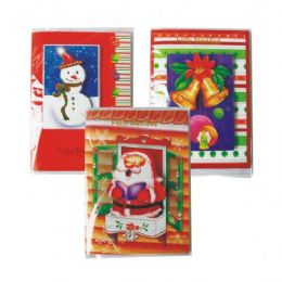 96 Units of CHRISTMAS CARD SPANISH MUSICAL CARD W / LIGHT ASSORTED DESIGNS COUNTER DISPLAY - Christmas Cards
