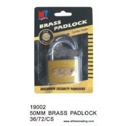 72 Units of BRASS PADLOCK - Padlocks and Combination Locks