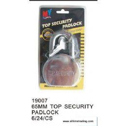 24 Units of 65MM TOP SECURITY PADLOCK - Padlocks and Combination Locks