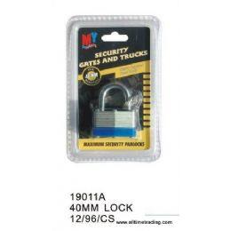 96 Units of 40MM SECURITY LOCK - Padlocks and Combination Locks