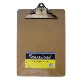 48 Units of Hardboard - Clipboard - 9 x 12.5 - Large Clip - Clipboards and Binders