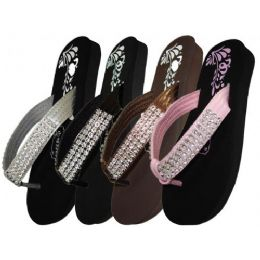 48 Units of Girls Sandal With Rhinestone Strap - Girls Sandals