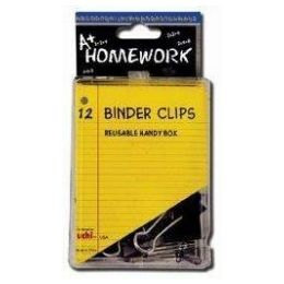 48 Units of Binder Clips - 12 pk - 3/4 - Plastic Boxed - Clips and Fasteners