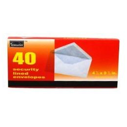 96 Units of Boxed Security Envelopes - #10 - 40 count - Envelopes