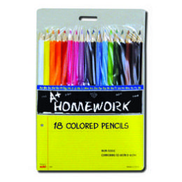 96 Units of Colored Pencils - 18 pk - Hang Card - Asst. Cls. - Pencils