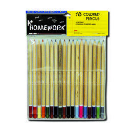 48 Units of Colored Pencils - 18 pk - Natural Barrel - Asst. Cls. - Pencils