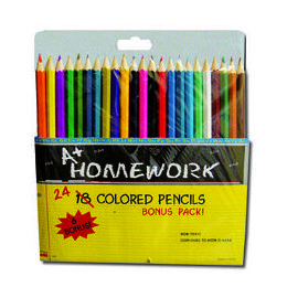 48 Units of Colored Pencils - 24 pk - Asst. Colors - Pencils