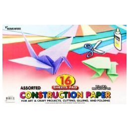 36 Units of Construction Paper Pad - 16 Sh - 12 X 18 - Asst. Cls - Paper