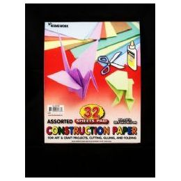 36 Units of Construction Paper Pad - 32 sh - 12 x 9 - Asst. Cls. - Paper