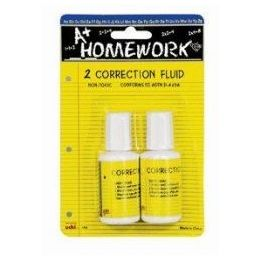 48 Units of Correction Fluid - White - 2 Pack - .7 Oz Each - Correction Items