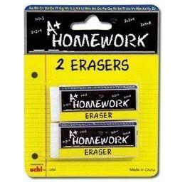 48 Units of Erasers -2 pk - White - Rectangular - 2.5 each - Erasers