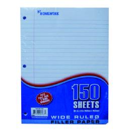 24 Units of Filler Paper - 150 Sh - 10.5 x 8 - WR - Paper