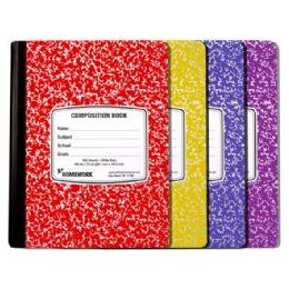 24 Units of Marble Comp. - Asst. Colors Cover - 100 sh - 9.75 x 7.5 - Notebooks
