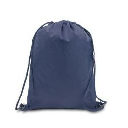 48 Units of Drawstring Backpack - Navy - Draw String & Sling Packs
