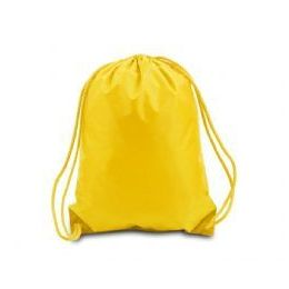 """60 Units of Drawstring Backpack - Golden Yellow - Backpacks 15"""" or Less"""