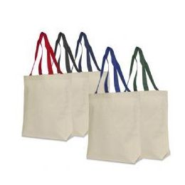 72 Units of 100% Cotton Canvas Tote - Tote Bags & Slings