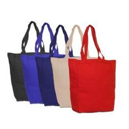 48 Units of 100% Cotton Canvas Tote - Tote Bags & Slings