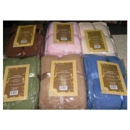 12 Units of Assorted King Size Super Soft Microplush Blanket - Fleece & Sherpa Blankets