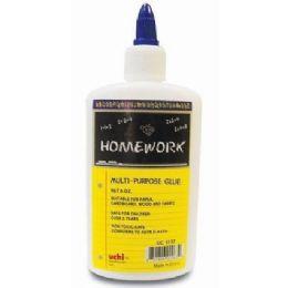 48 Units of Multi Purpose White Glue - 8.0 oz Bottle - Glue Office and School
