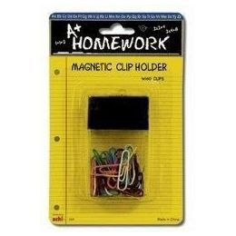 48 Units of Paper Clips + Magnetic Desk Holder - 60ct.-1.25 Vinyl - Clips and Fasteners