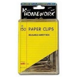 96 Units of Paper Clips - 150ct. - 2- Silver Metal - Boxed - Clips and Fasteners