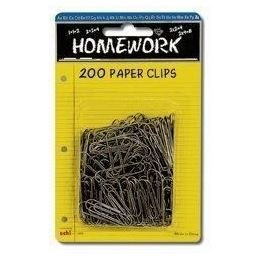 96 Units of Paper Clips - 200ct.- 1.25 - Silver metal - Carded - Clips and Fasteners