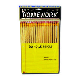 96 Units of Pencils - No. 2 - 18 pk - Natural Barrel - Pencils