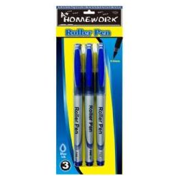 48 Units of Roller Pens - 3 pk - Blue Ink - Pens
