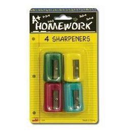 48 Units of Sharpeners - Pencil - Rectangular - 4 pack - Sharpeners