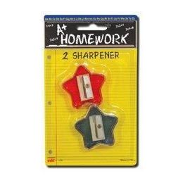 96 Units of Sharpeners - Pencil - Star Design - 2 pack - Sharpeners