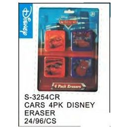 48 Units of Cars 4pack Eraser - Licensed School Supplies