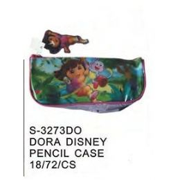 72 Units of Dora Pencil Case - Licensed School Supplies