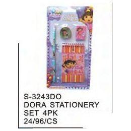 96 Units of Dora Stationery 4pc Set - Licensed School Supplies