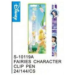 144 Units of Fairies Clip Pen - Licensed School Supplies