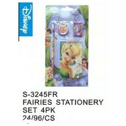 144 Units of Fairies Stationery 4pc - Licensed School Supplies