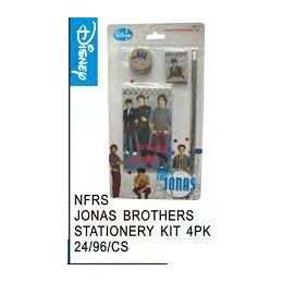 96 Units of Jonas Bros Stationery Kit 4 Pack - Licensed School Supplies