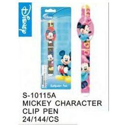 144 Units of Mickey Clip Pen - Licensed School Supplies