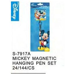144 Units of Mickey Magnetic Hanging Pen Set - Licensed School Supplies