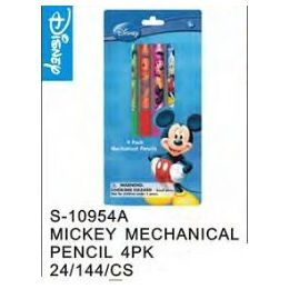 144 Units of Mickey Mechanical Pencils 4pack - Licensed School Supplies