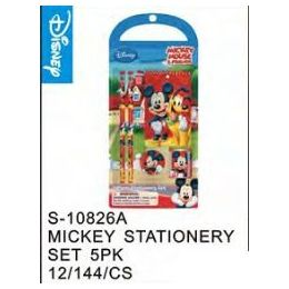 144 Units of Mickey Stationery 5pc Set - Licensed School Supplies