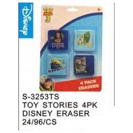 48 Units of Toy Story 4pack Eraser - Licensed School Supplies