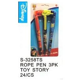 96 Units of Toy Story Pens On a Rope 3 Pack - Licensed School Supplies