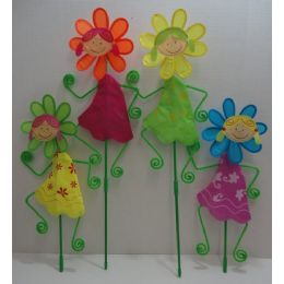 "24 Units of 8.5"" Wind Spinner--Girl with Daisy - Wind Spinners"