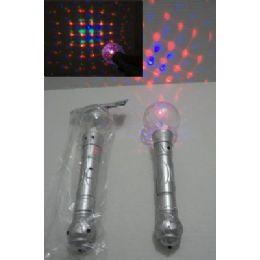 "96 Units of 10"" Light & Sound Disco Ball Wand - Light Up Toys"