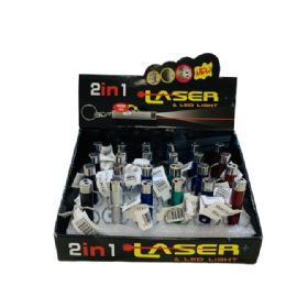 72 Units of 2 In 1 Laser (2dozen Display Box) - Flash Lights