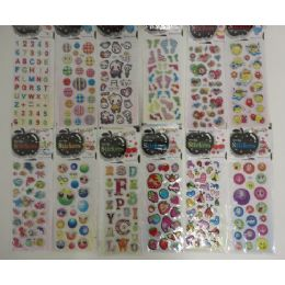 "144 Units of 3""x6.25"" Puffy Sticker Sheets - Tattoos and Stickers"