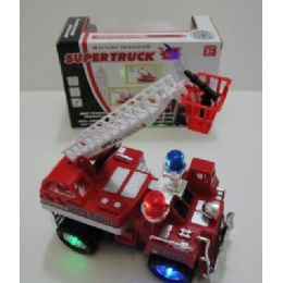 48 Units of Battery Operated Fire Truck - Cars, Planes, Trains & Bikes